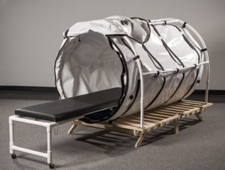 "46"" Portable Hyperbaric Chamber with Stretcher Extended"