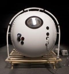 "46"" Portable Hyperbaric Chamber, End View"